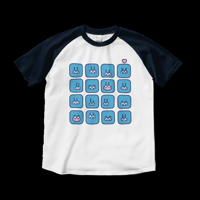 ラグランTシャツ - M - ホワイト×ネイビー