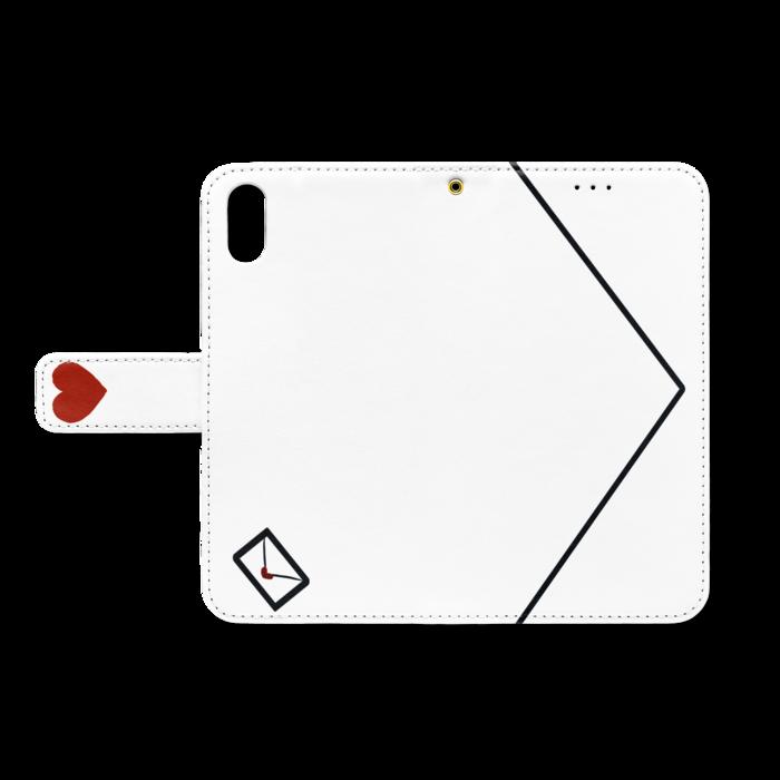 手帳型iPhoneケース - iPhone XS / X - ストラップ穴 あり