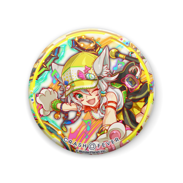 【クラフィ公式】バステト 缶バッジ