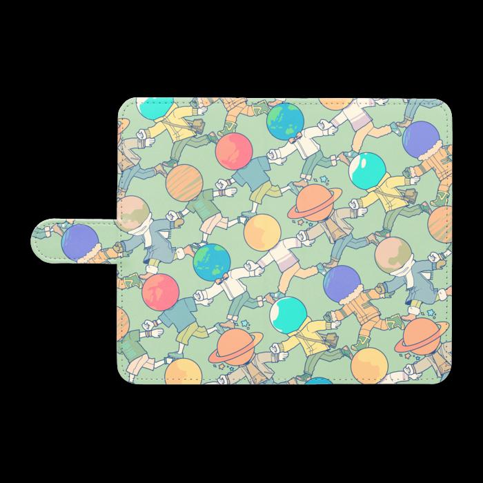 手帳型Androidケース - L - ゆるっとブルー