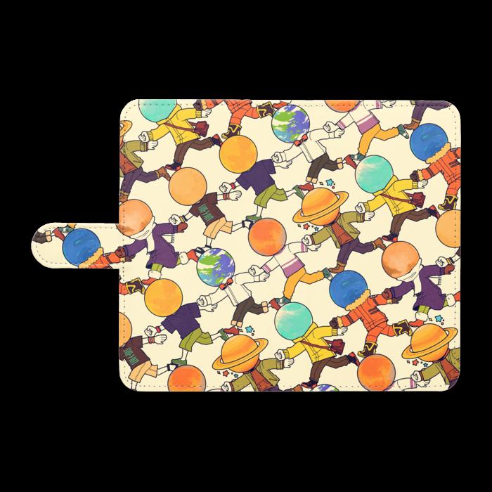 手帳型Androidケース - L - ホワイト