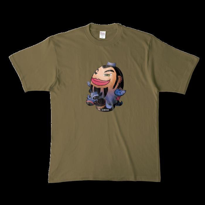 カラーTシャツ - XL - オリーブ