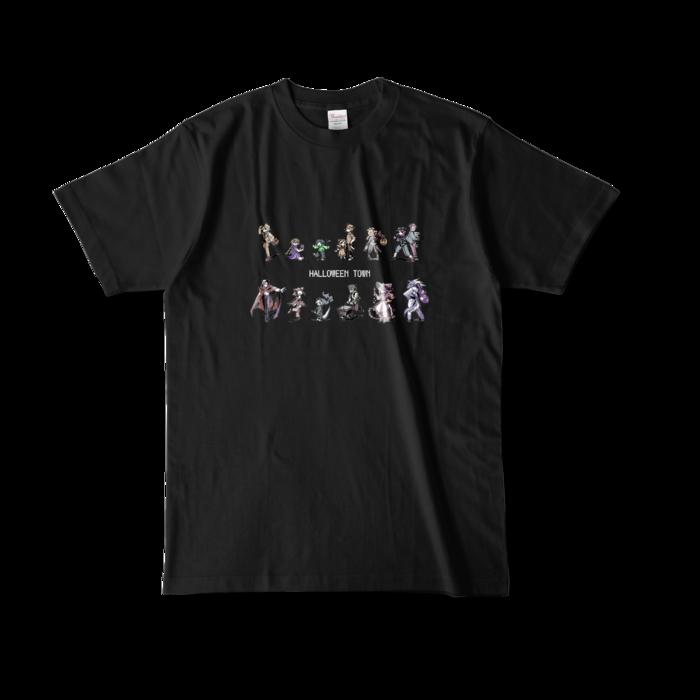 カラーTシャツ(濃色) - L - 正面 - ブラック