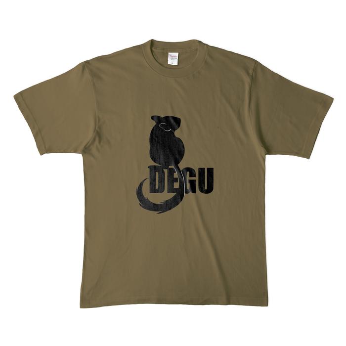 カラーTシャツ(濃色) - XL - オリーブ