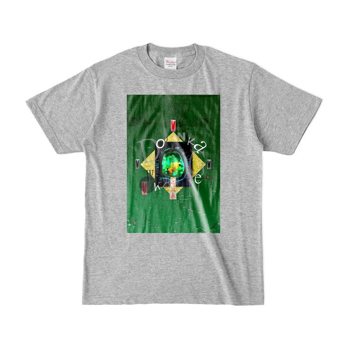 カラーTシャツ(濃色) - S - 杢グレー