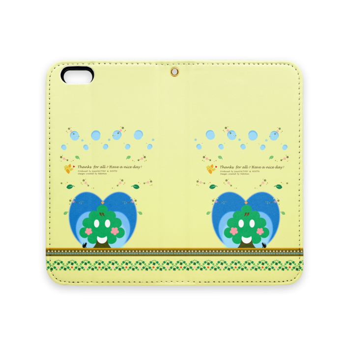 手帳型iPhoneケース(ベルトなし) - iPhone 6 / 6s - ストラップ穴 あり