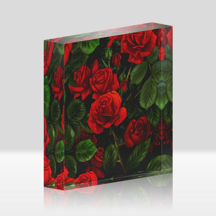 赤薔薇(100x100mm)