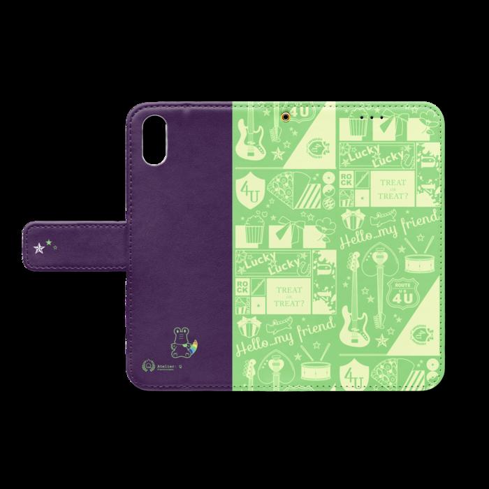 手帳型iPhoneケース - iPhone X - ストラップ穴 あり