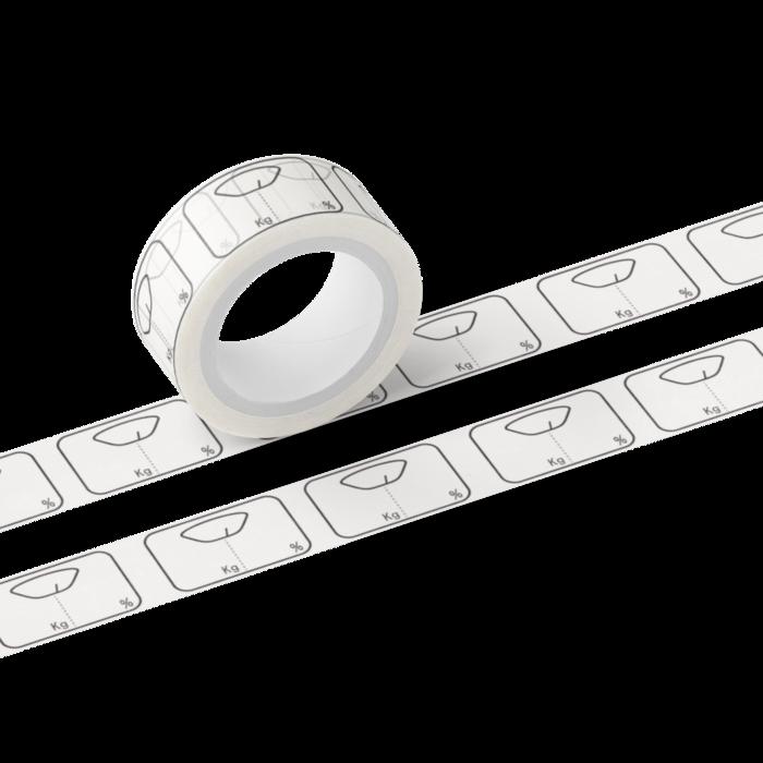マスキングテープ - 表記アリ/グレー