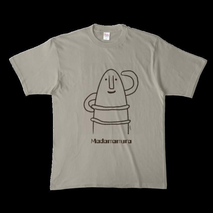 カラーTシャツ(淡色) - XL - 正面 - シルバーグレー