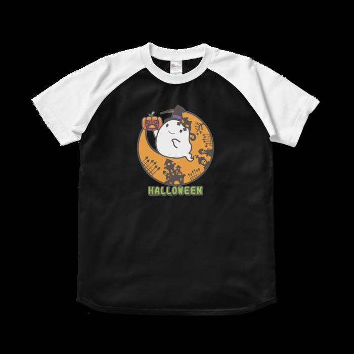 ラグランTシャツ - S - ブラック×ホワイト