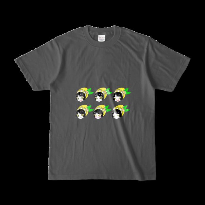 カラーTシャツ(濃色) - S - 両面 - チャコール