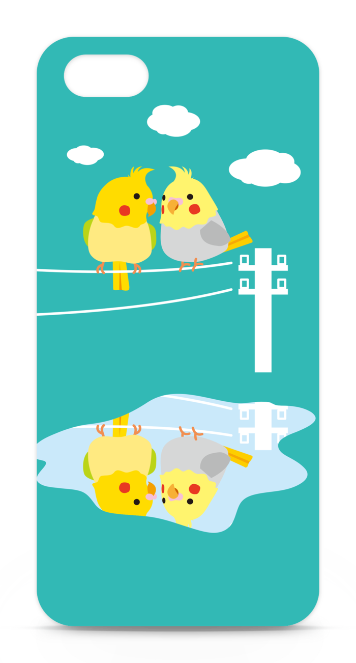 【ブルー】iPhone5ケース
