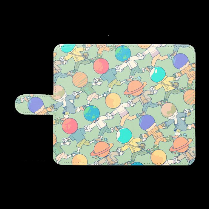 手帳型Androidケース - M - ゆるっとブルー
