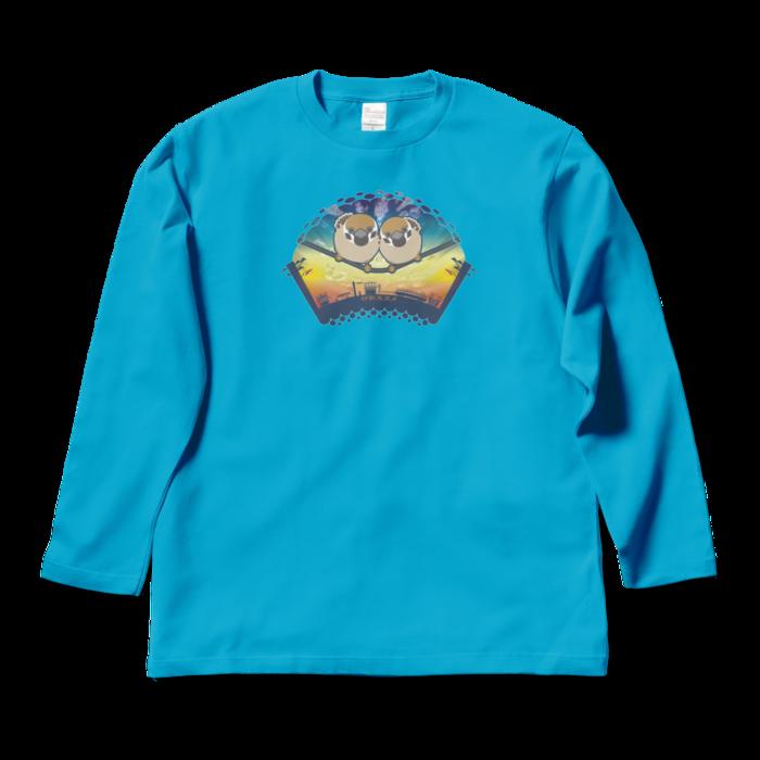 ロングスリーブTシャツ - L - ターコイズ