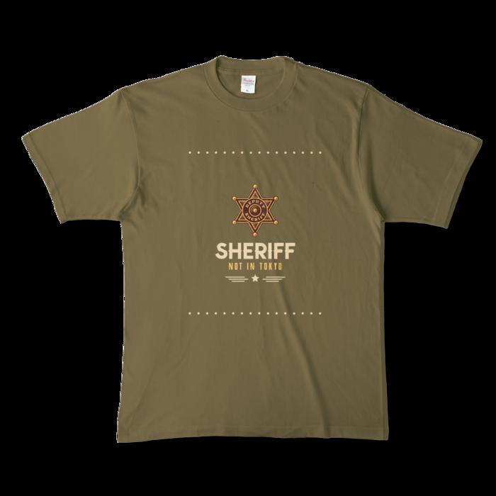 カラーTシャツ - XL - オリーブ (濃色)