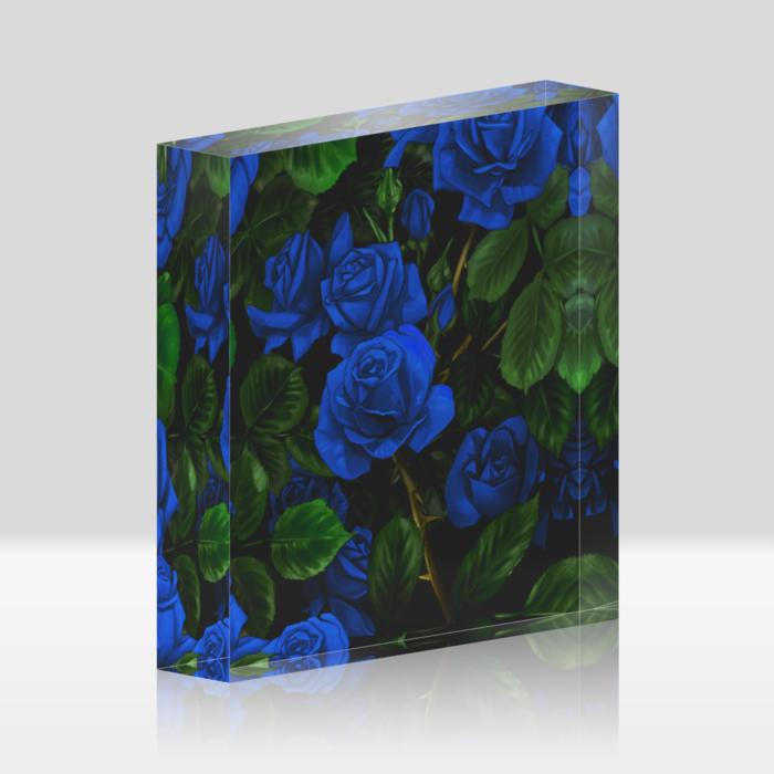 青薔薇(100x100mm)