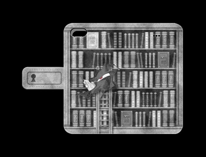 手帳型iPhoneケース(灰) - iPhone5