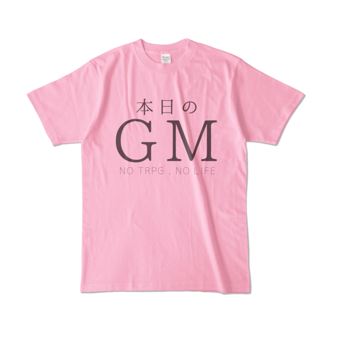 カラーTシャツ - L - ピーチ