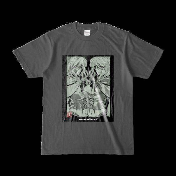 カラーTシャツ(濃色) - S - 正面 - チャコール