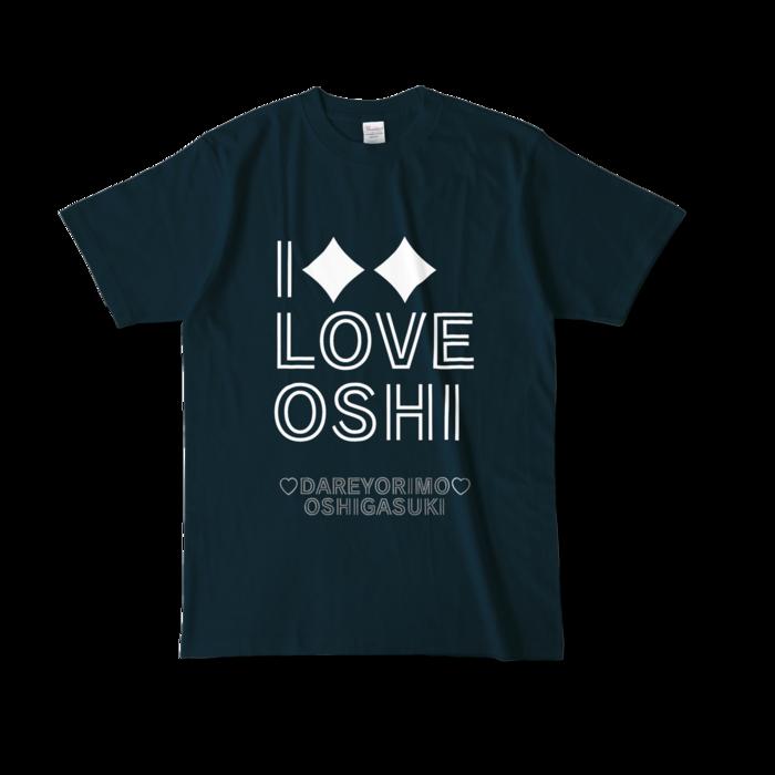 カラーTシャツ(濃色) - L - 両面 - ネイビー
