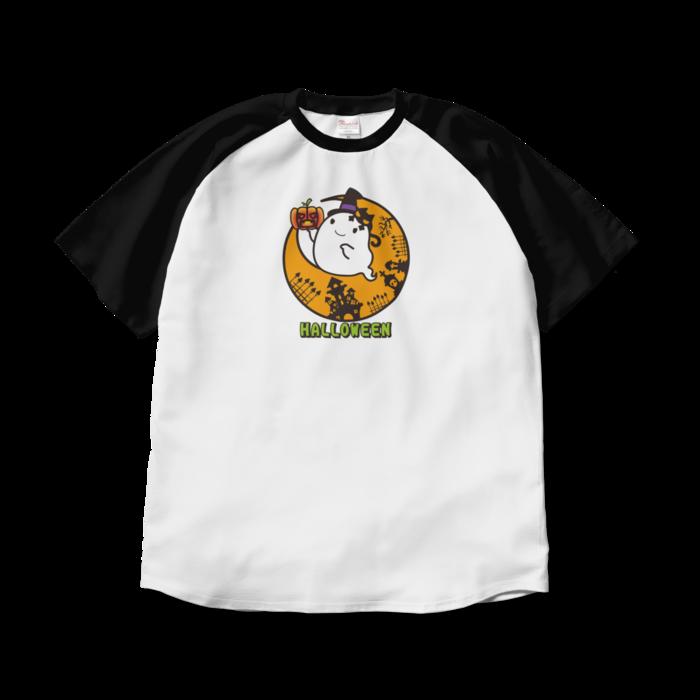 ラグランTシャツ - XL - ホワイト×ブラック
