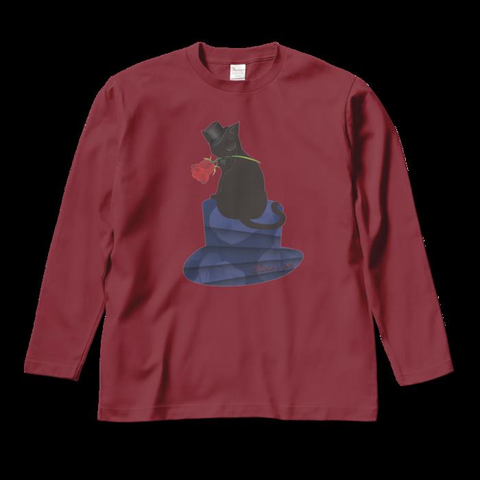 ロングスリーブTシャツ - M - バーガンディ