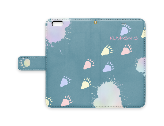 手帳型iPhoneケース - iPhone 6 Plus / 6s Plus - ストラップ穴 あり(青)